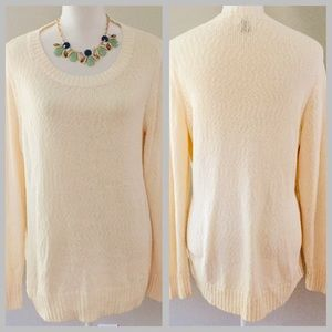 Old Navy cotton blend scoop neck pullover sweater